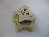 Деревянная коробочка для молочных зубов