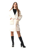 Пальто белое Max Mara каракуль