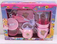 Набор детской посуды кукольный сервиз 668A: посуда + аксессуары