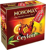 """Чай """"МОНОМАХ"""" 100ф/п*1,5г Ceylon Чорний Цейлонський з/я (1/16)"""