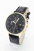 Мужские наручные часы BMW, золотые с чёрным циферблатом ( код: IBW078YB )