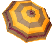 Женский складной зонт автомат (желтый), фото 1