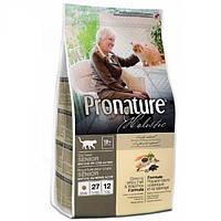 Pronature Holistic (Пронатюр Холистик) с океанической белой рыбой и диким рисом сухой холистик корм для котов, вес 2,72 кг