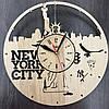 Часы настенные круглые из дерева 7Arts Нью-Йорк. Статуя Свободы CL-0030, фото 2