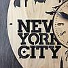 Часы настенные круглые из дерева 7Arts Нью-Йорк. Статуя Свободы CL-0030, фото 3
