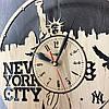 Часы настенные круглые из дерева 7Arts Нью-Йорк. Статуя Свободы CL-0030, фото 4