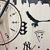 Часы настенные круглые из дерева 7Arts Нью-Йорк. Статуя Свободы CL-0030, фото 5