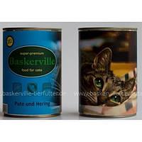 Баскервиль консервы д/кошек Индейка и рыба 400 г