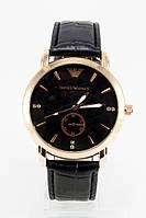 Мужские наручные часы Armani, Армани золотые с чёрным циферблатом