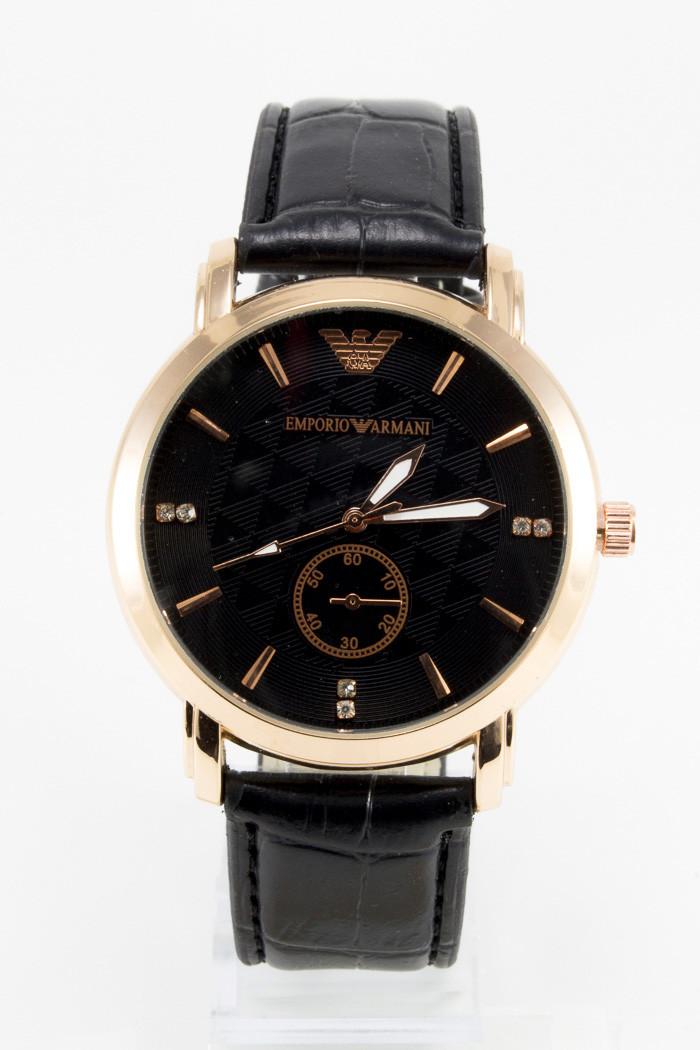 b1be0edb Мужские наручные часы Armani, Армани золотые с чёрным циферблатом -  Интернет-магазин