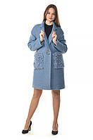 Пальто женское голубое Max Mara