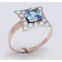 Золотое кольцо с камнями 1208Гл