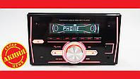 2din Pioneer 1201 Bluetooth USB+SD+AUX+пульт RGB подсветка