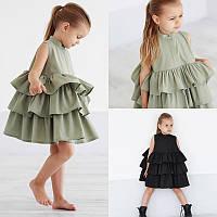 Шикарное платье с оборками, фото 1