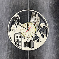 Часы настенные с лазерной гравировкой 7Arts Доктор Кто CL-0066