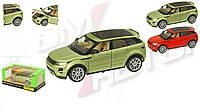 Машинка железная инерционная Range Rover Evoque 68244: открываются двери/капот/багажник + свет/звук