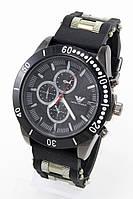 Мужские наручные часы Emporio Armani, Армани чёрные с чёрным циферблатом ( код: IBW081BB ), фото 1