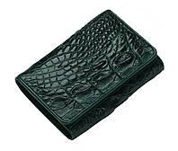 Кошелек из кожи крокодила Темно-зеленый (cw31)