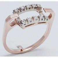 Оригинальное золотое кольцо женское 16310