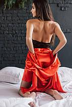 """Сексуальный женский комплект """"Jasmine"""" халатик и пеньюар с кружевом (4 цвета), фото 3"""