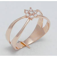 Золотое кольцо необычной формы 21320