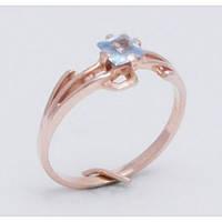 Золотое кольцо с нежно голубым камнем 2203Гл