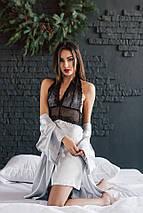 """Сексуальный женский комплект """"Jasmine"""" халатик и пеньюар с кружевом (4 цвета), фото 2"""