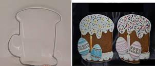 Высокопрочная Вырубка для пряника Пасха с яйцом