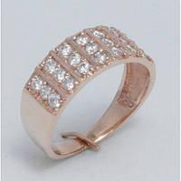 Широкое женское кольцо золото 23110
