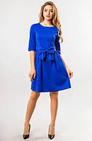 Синее платье с бантом, фото 1