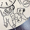 Детские настенные часы из дерева 7Arts Король Лев CL-0093, фото 4