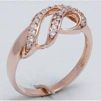 Кольцо женское с узором и камнями 24160