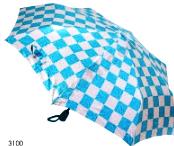 Женский складной зонт полуавтомат (голубой)