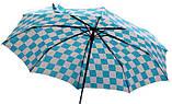 Женский складной зонт полуавтомат (голубой) , фото 2