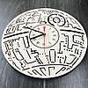 Настенные часы ручной работы из дерева 7Arts Звезда смерти CL-0104, фото 2