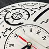Настенные часы ручной работы из дерева 7Arts Звезда смерти CL-0104, фото 3