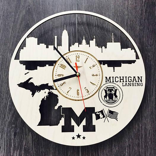 Дизайнерские часы на стену 7Arts Лансинг, Мичиган CL-0116