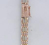Золотой браслет женский для часов Н7009