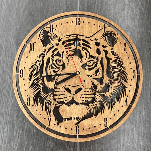 Часы из дерева на стену 7Arts Тигр CL-0119