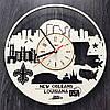 Интерьерные часы на стену 7Arts Новый Орлеан, Луизиана CL-0120