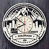 Часы настенные большие 7Arts Денвер, Колорадо CL-0123