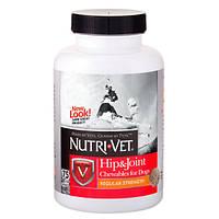 Nutri-Vet HipJoint Regular НУТРИ-ВЕТ СВЯЗКИ И СУСТАВЫ РЕГУЛЯР, 1 уровень, хондроитин и глюкозамин для собак, с МСМ, таблетки-75табл