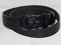 Ремень брендовый мужской кожаный Gucci ширина 40 мм. 930540