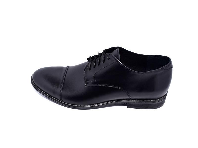 Мужские туфли с нат. кожи VanKristi Stael QJ968 Black р. 43