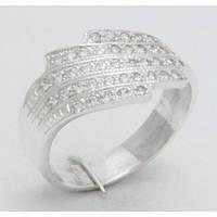 Красивое серебряное кольцо с камнями М16590С