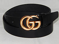 Ремень брендовый женский кожаный Gucci ширина 35 мм. 930532