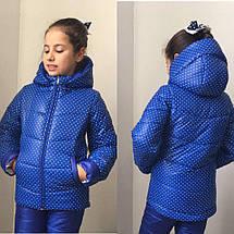 """Детский зимний костюм на синтепоне """"Горошинка"""" с капюшоном (2 цвета), фото 3"""