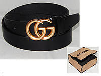 Ремень женский кожаный в коробке GUCCI ширина 35 мм. 930533