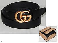 Ремень мужской кожаный в коробке GUCCI ширина 40 мм. 930545