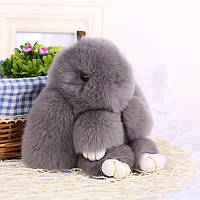 Брелок кролик из натурального меха Rex Fendi 15 см